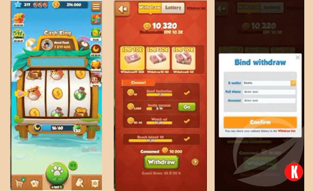 Cara Menarik Uang di Island King