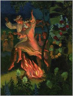Tradycyjne przeskakiwanie przez ognisko