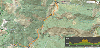 Mapa de la Ruta del río Carbo.