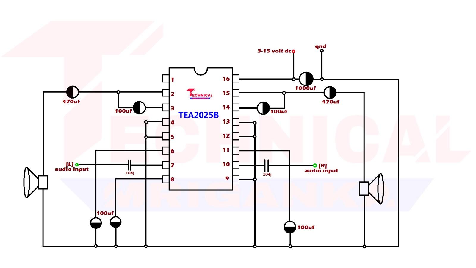 10 Watt Stereo Amplifier Technical Mriganka