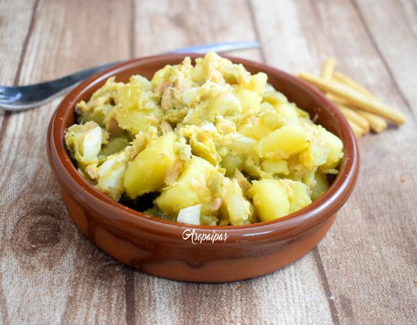 Patatas con Judías Verdes, Huevo Duro y Atún. Video Receta