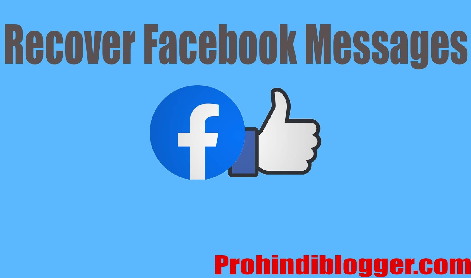 recover facebook messages