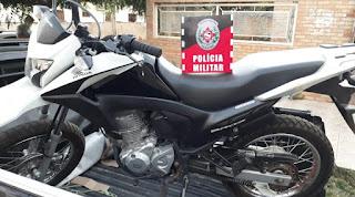 Moto roubada em Brejo dos Santos é localizada na zona rural do município