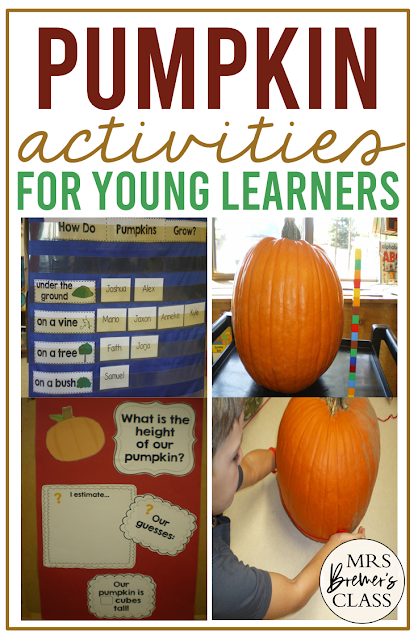 This pumpkin unit includes lots of literacy, math, and science activities for Kindergarten and First Grade. Perfect as a fall theme!