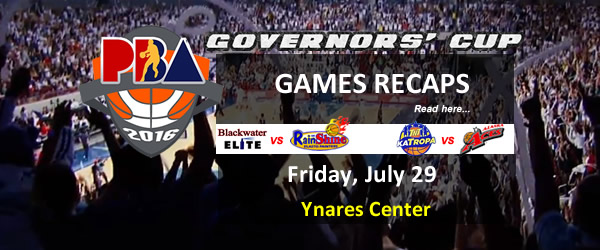 List of PBA Games Friday July 29, 2016 @ Ynares Center