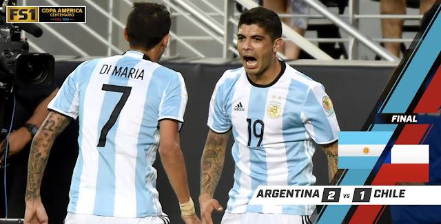 Argentina 2-1 Chile : Duel Berkelas