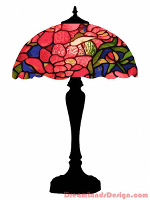Tiffany Lamp Colorful Clipart