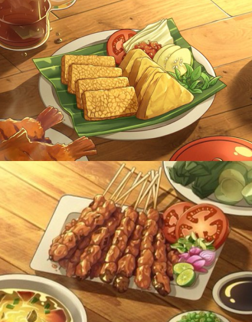 Makanan yang Dijadikan Gaya Anime Karya Anak Indonesia Ini Viral, Bikin Ngiler!