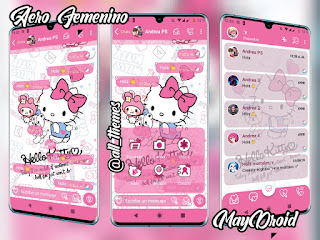 Hello Kitty Theme For YOWhatsApp & Fouad WhatsApp By May Droid