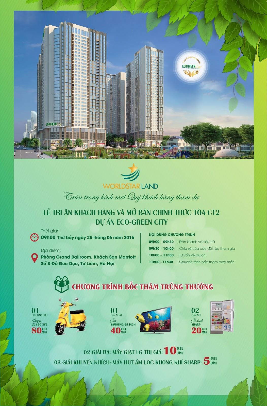Mở bán chung cư Eco Green City
