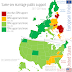 Same-sex marriage public support across the US and the EU. (Picture)