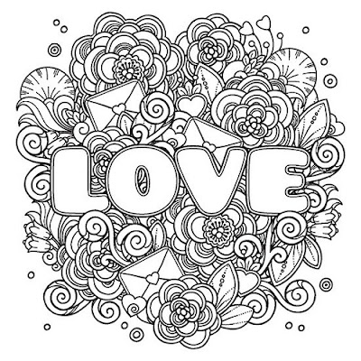 Gambar love doodle