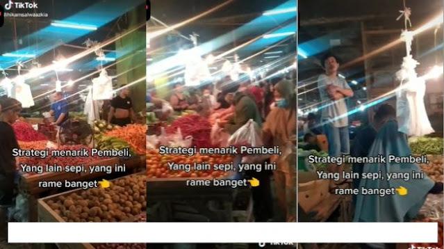 Nyanyi Yel-yel Bikin Lapak Pasar Ini Langsung Ramai, Toko Sebelah Insecure