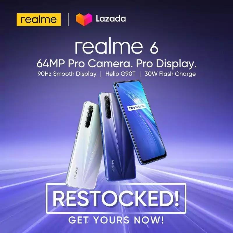 Realme 6 and 6 Pro Restocked