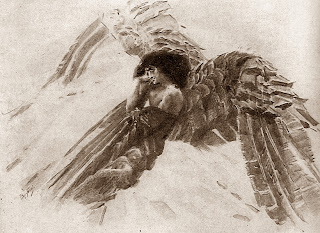 Mikhail Vrubel - Demon flying