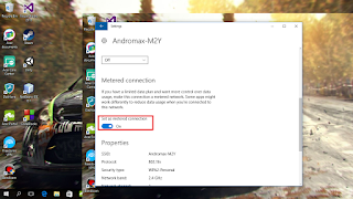 Membuat Metered Connection
