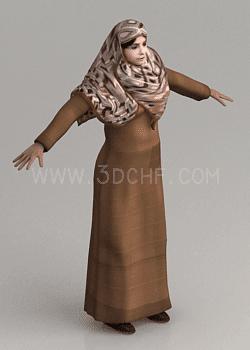 hijab 3d model