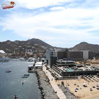 Drone shot of Breathless in Cabo San Lucas