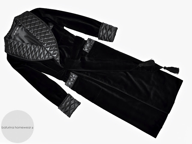 mens black velvet dressing gown quilted silk robe warm thick heavy lined extra long