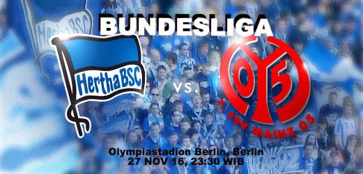 Prediksi Mainz vs Hertha Berlin 6 Oktober 2018 Bundesliga German Pukul 20.30 WIB
