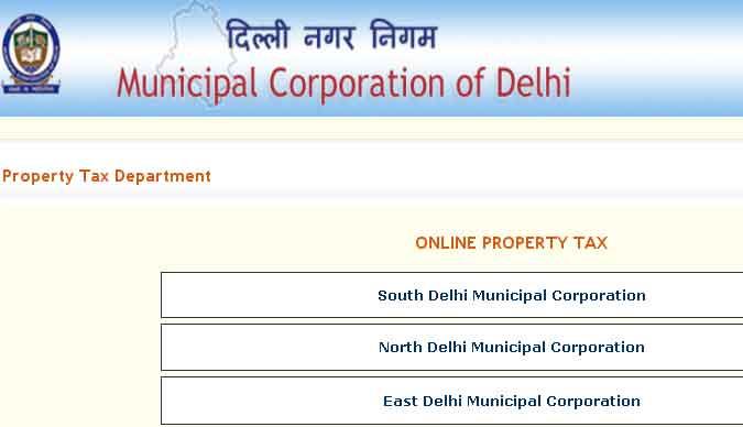 Mcd Property Tax Delhi Online