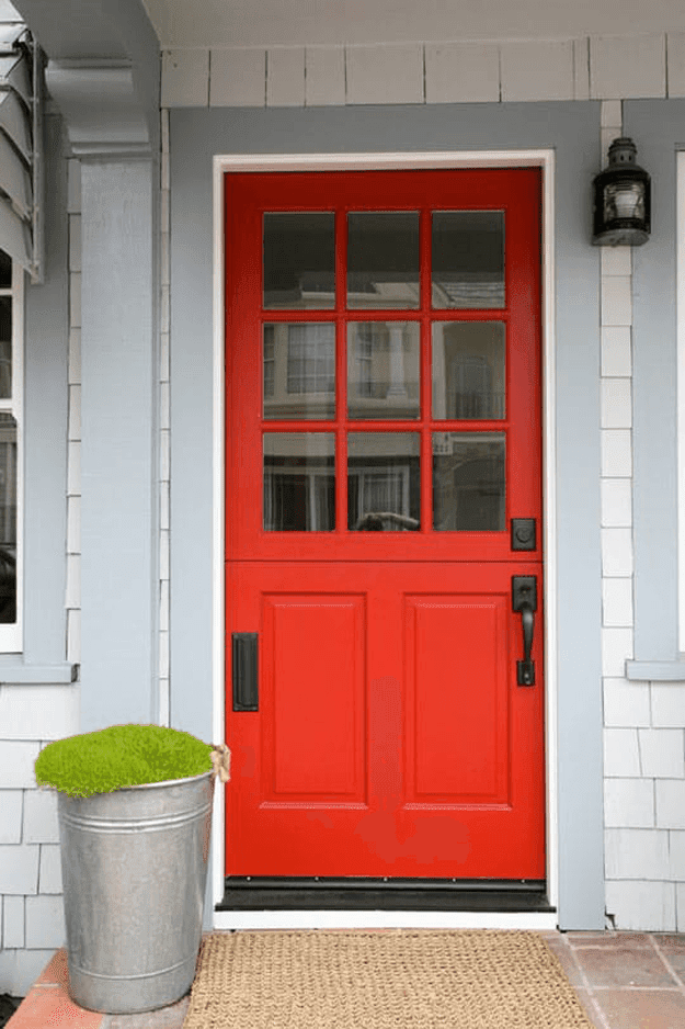 red front door, front door, front entrance