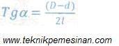 gambar rumus perhitungan membubut tirus