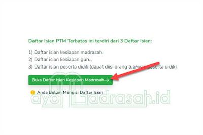Pengisian Daftar Kesiapan PTM oleh Madrasah 1