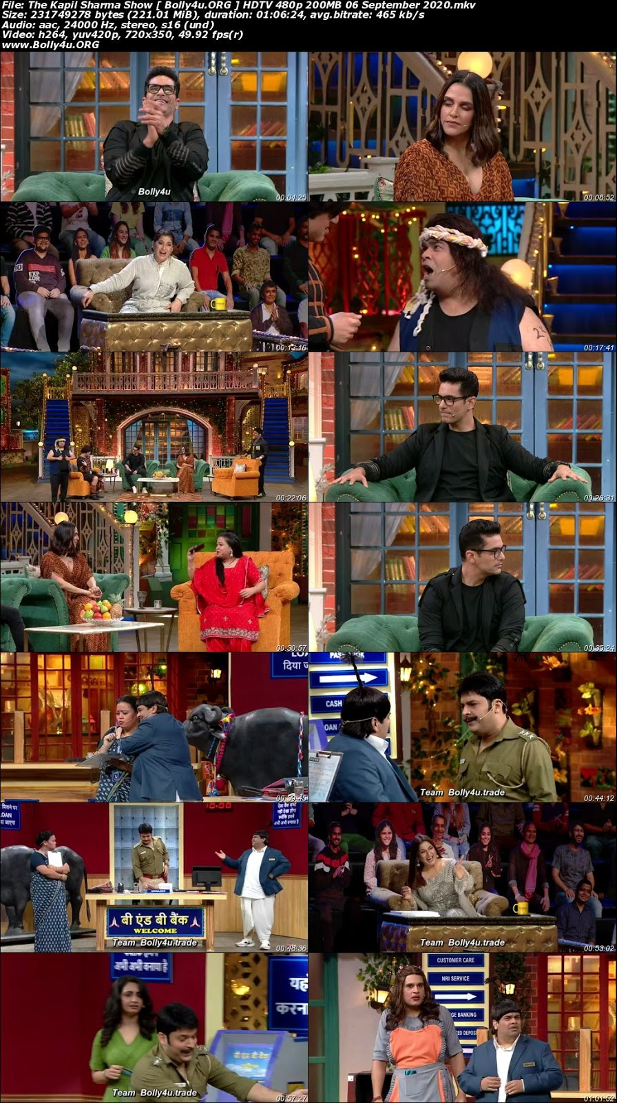 The Kapil Sharma Show HDTV 480p 200MB 06 September 2020 Download