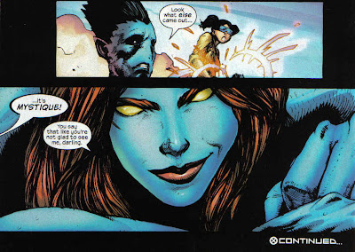 It was mentioned that Mystique was sucked into Abyss, but not what issue, so...