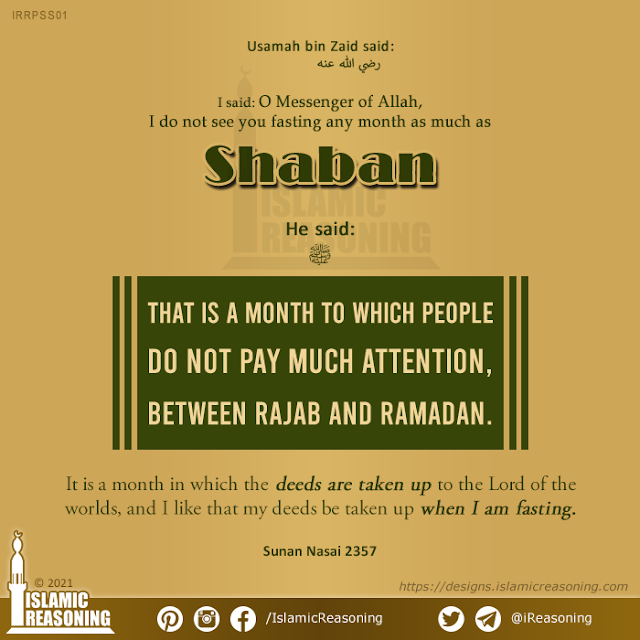 Sha'ban Series: A month to which people do not pay much attention | Islamic Reasoning Designs
