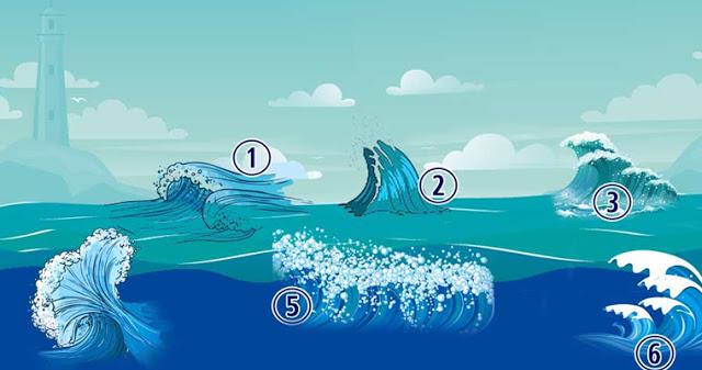 Психологический тест: выберите морскую волну