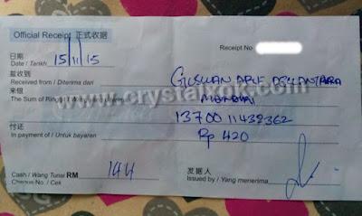 gambar bukti transaksi di hongkong