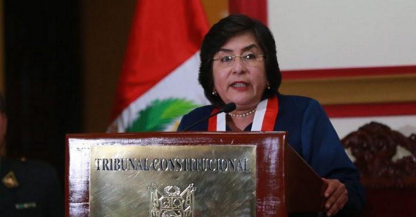 Presidenta del Tribunal Constitucional recuerda al Congreso que el estado no es una chacra, vivimos en un Estado constitucional