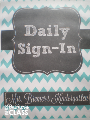 Daily Sign-In for extra practice with name printing {and it's editable!} #backtoschool #kindergarten #names #namewriting