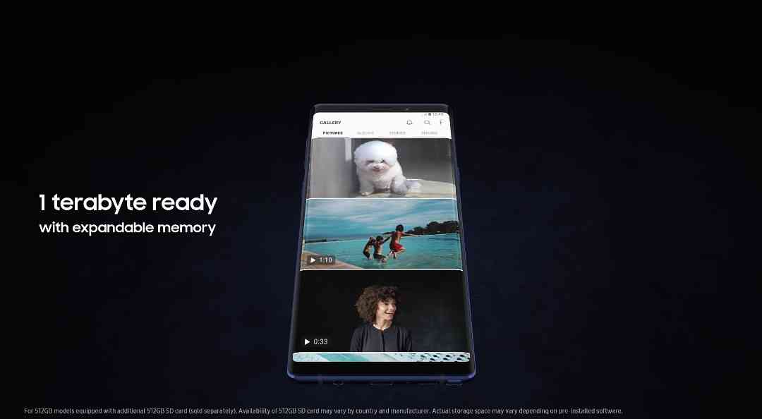 The Samsung Galaxy Note 9 Is 1TB Ready