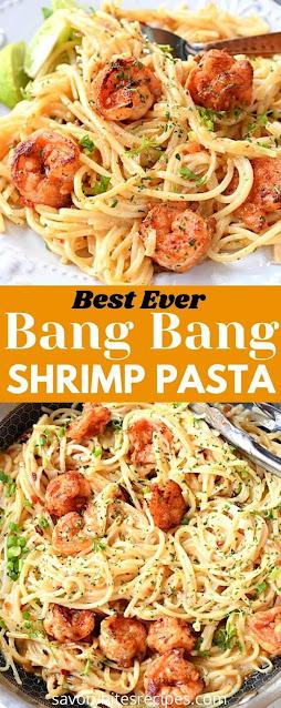 best ever bang bang shrimp pasta