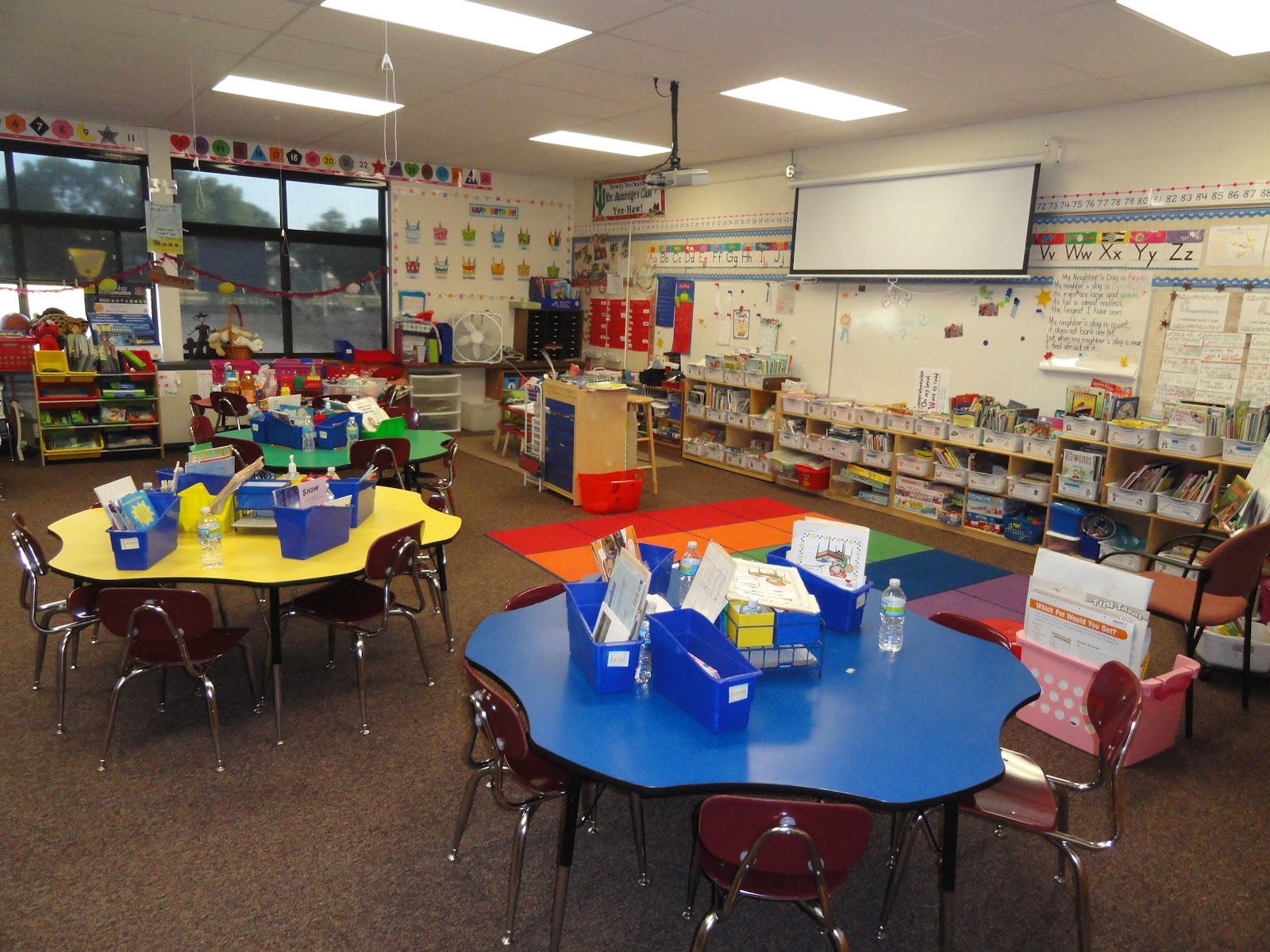 June Classroom Ideas ~ Bunting books and bright ideas classroom photos june