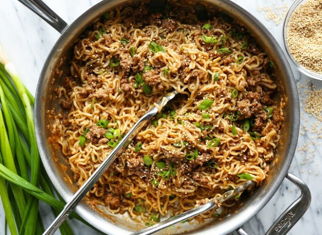 Quick Asian Beef Ramen Noodles #dinner #noodles