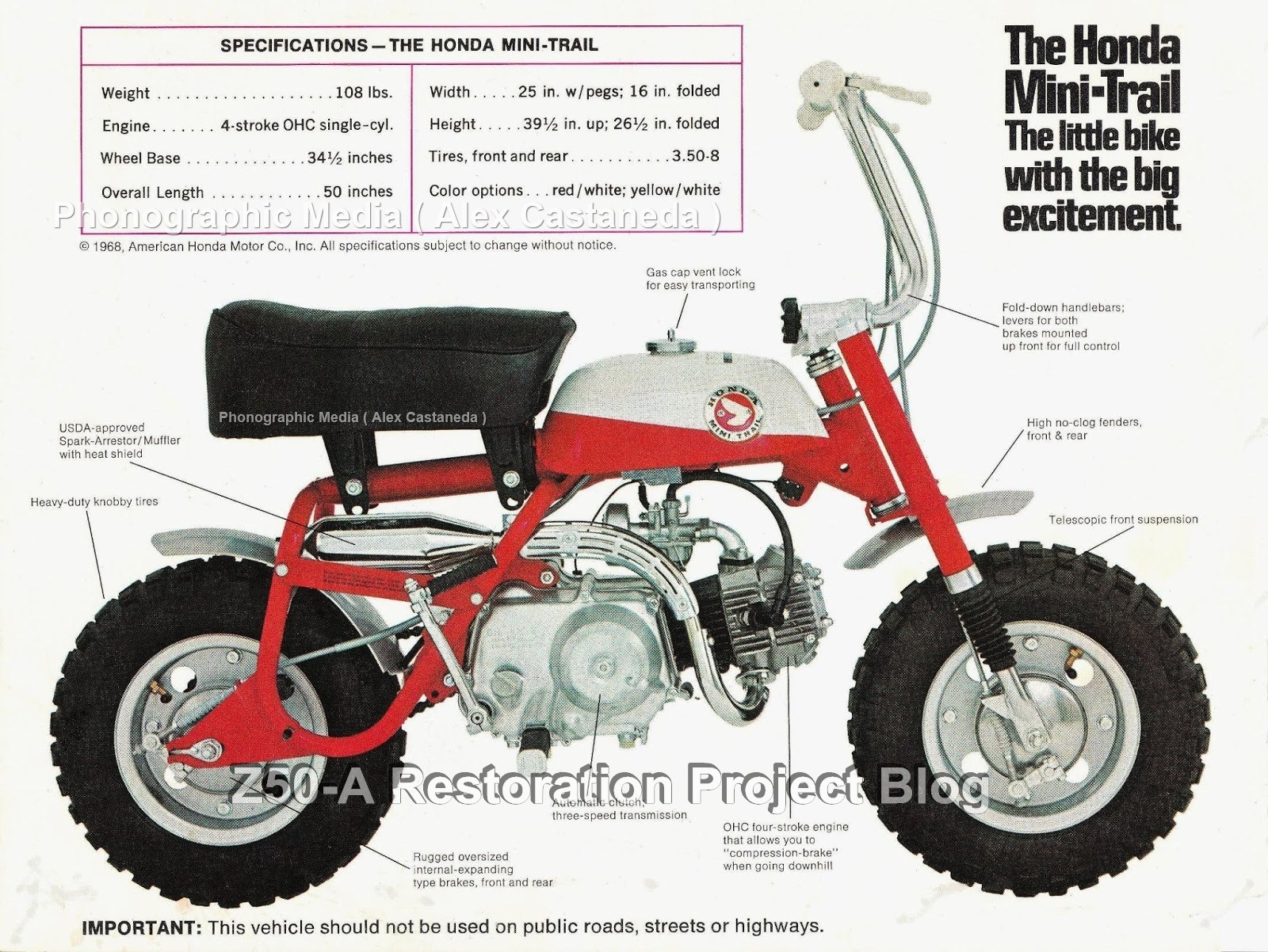 The Anatomy Of A 1968 Honda Mini Trail Z50A