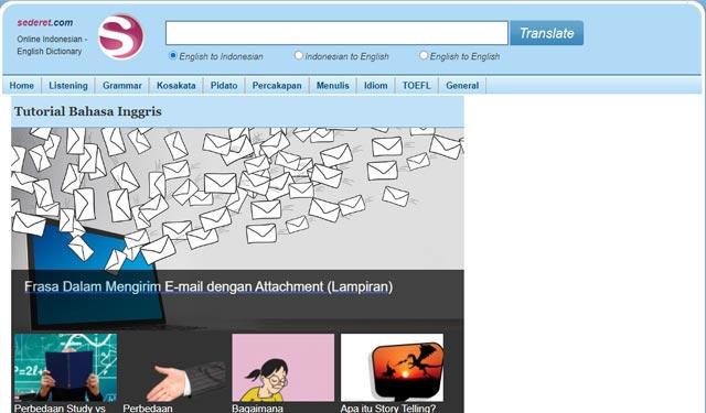 Sederet.com Situs Penerjemah Indonesia Inggris Online