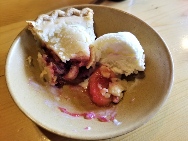 Homemade pie and ice cream at Maclaren River Lodge