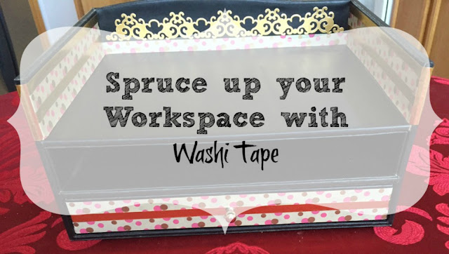 Transform your work space with just Washi tape.