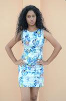 Actress Priyankha Stills in Floral Short Dress at Golmal Gullu Movie Pressmeet 0193.JPG