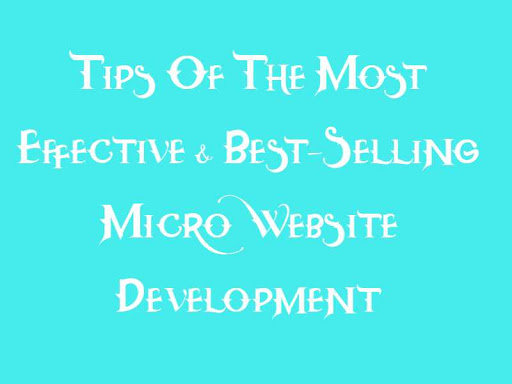 Tips Of The Most Effective & Best-Selling Micro Website Development