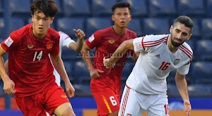 الامارات تتعادل في اول لقاء لها في كاس اسيا تحت 23 سنة مع منتخب فيتنام بالتعادل السلبي