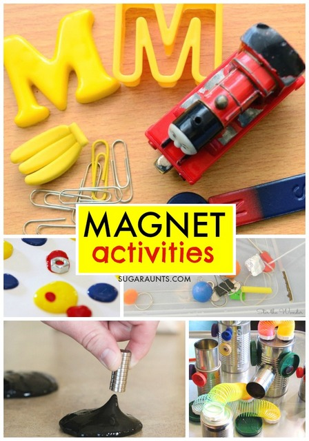 Magnet activities for kids. These are fun ways to learn and discover properties of magnetism and science!