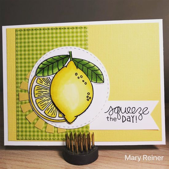 Squeeze the day by Mary features Lemon Twist by Newton's Nook Designs; #newtonsnook