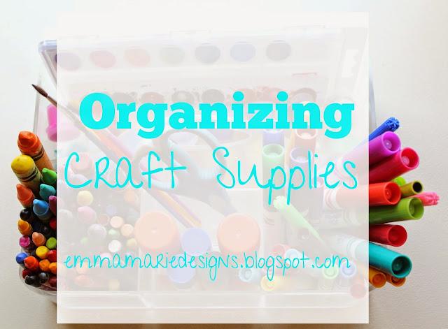 Organizing children's craft supplies