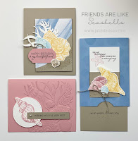 Stampin' Up! Friends Are Like Seashells Card Kit ~ Stamp of the Month Club  ~ www.juliedavison.com #stampinup